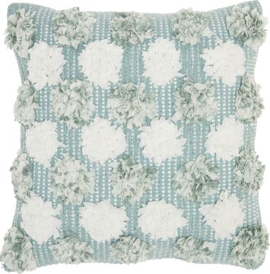 Kids Flowerful Blue Accent Pillow