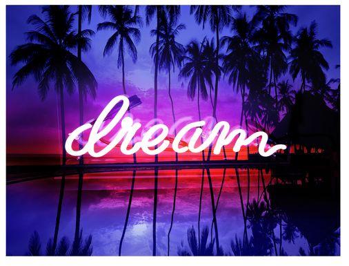 Kids Fluorescent Dreams Purple Artwork