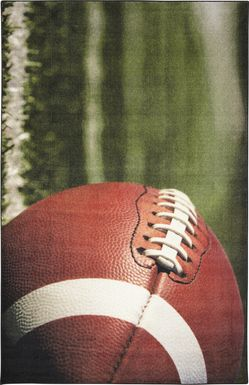 Kids Football Practice Green 3' x 5' Rug