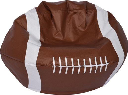 Kids Football Seat Brown Bean Bag
