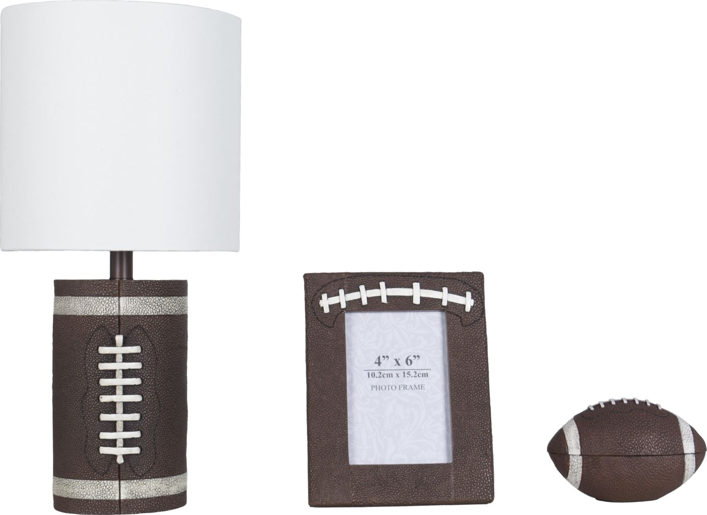 Kids Football Zone Brown 3 Pc Lamp Set