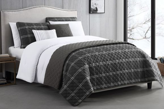Kids Formal Simplicity Black 6 Pc Twin Comforter Set