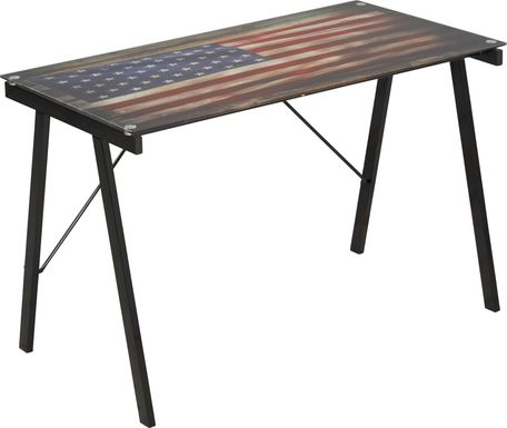 Kids Freedom Flag Black Desk