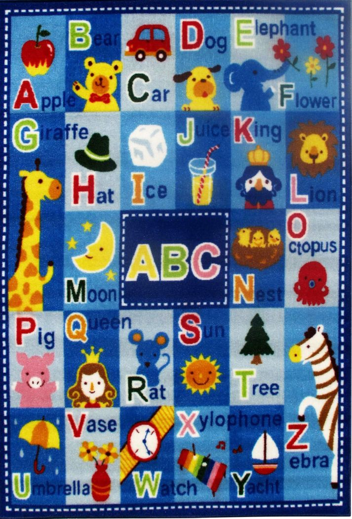 Kids Fun ABCs Blue 3'2 x 4'8 Rug