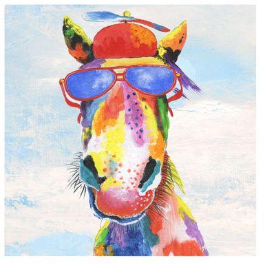 Kids Fun Horse Blue Artwork