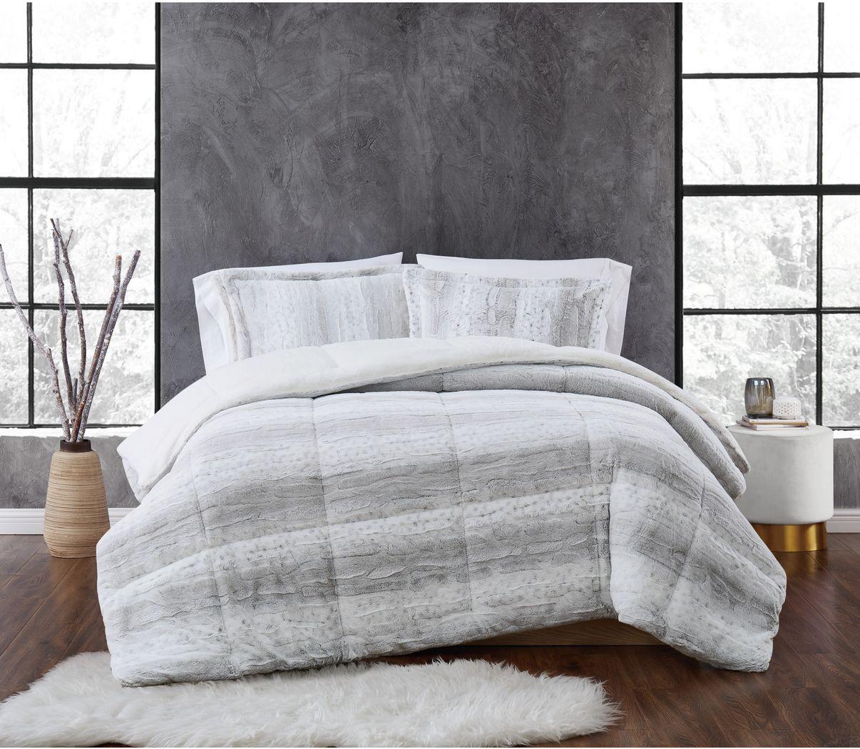 Kids Furry Comfort Gray 2 Pc Twin XL Comforter Set