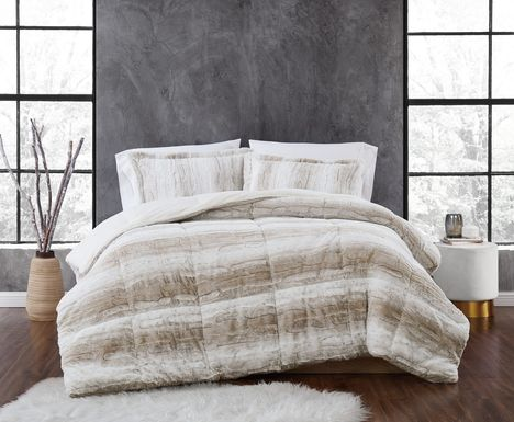 Kids Furry Comfort Tan 2 Pc Twin XL Comforter Set