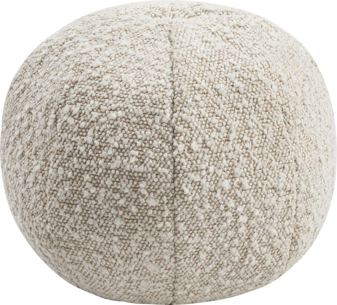 Kids Fuzzy Boba Beige Accent Pillow