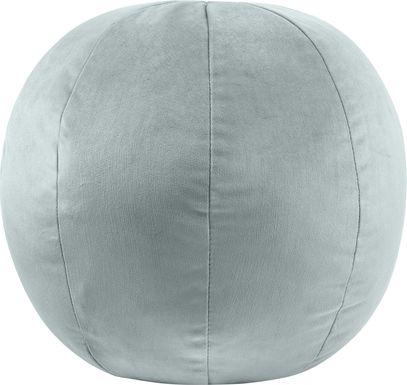 Kids Fuzzy Boba Blue Accent Pillow
