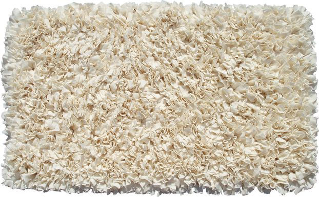 Kids Fuzzy Clouds Cream 4'7 x 7'7 Rug
