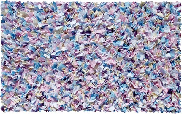 Kids Fuzzy Clouds Purple 4'7 x 7'7 Rug