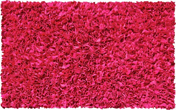 Kids Fuzzy Clouds Raspberry 4'7 x 7'7 Rug