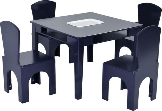 Kids Galya Navy 5 Pc Table Set