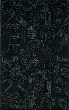 Kids Gamer's Dream Teal 5' x 8' Rug