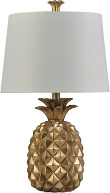 Kids Glamorous Pineapple Gold Lamp
