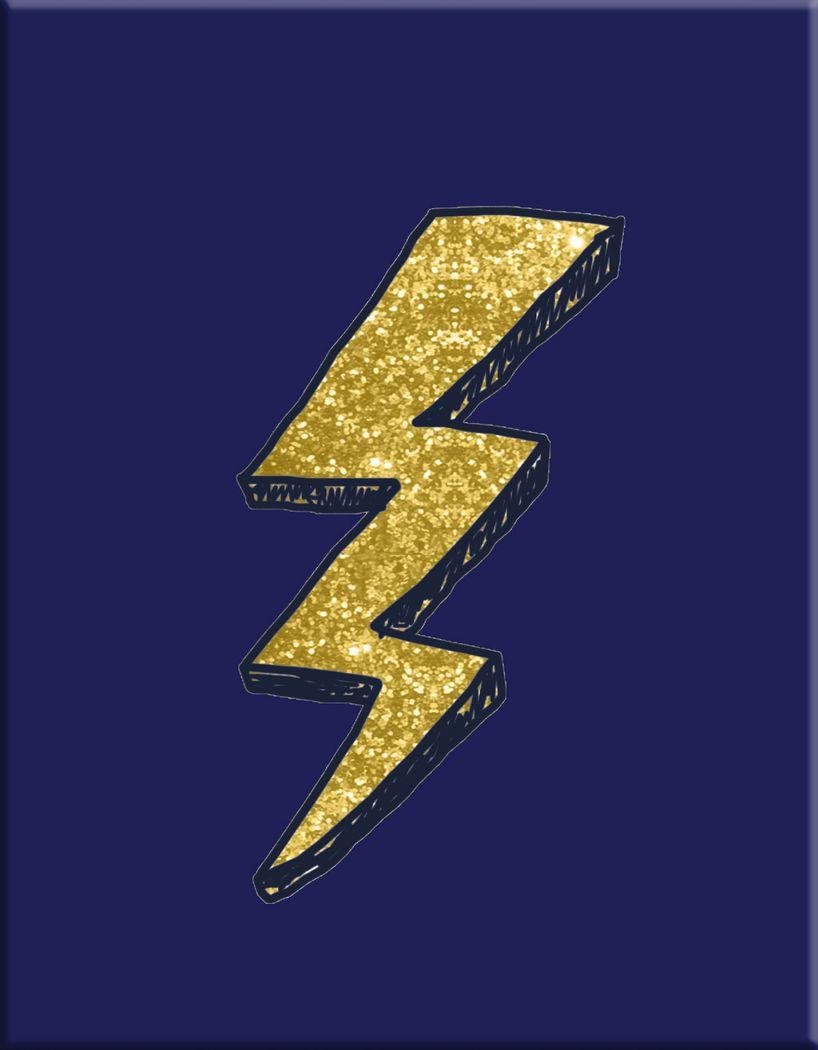 Kids Graphic Lightning Bolt Navy Artwork