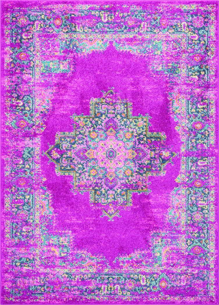Kids Gypsy Spring Pink 3'9 x 5'9 Rug