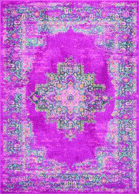 Kids Gypsy Spring Pink 5'3 x 7'3 Rug