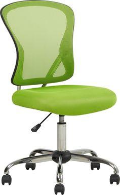 Kids Hayley Green Desk Chair
