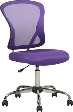 Kids Hayley Purple Desk Chair
