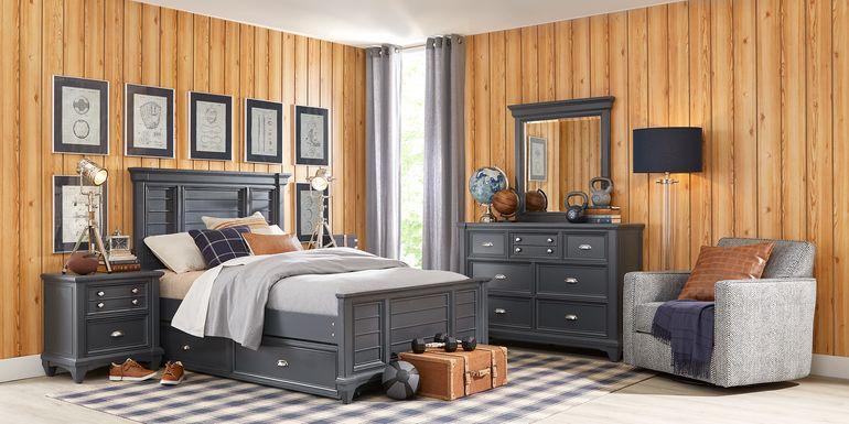Kids Hilton Head Graphite 5 Pc Full Panel Bedroom