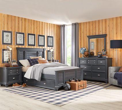 Kids Hilton Head Graphite 5 Pc Twin Panel Bedroom