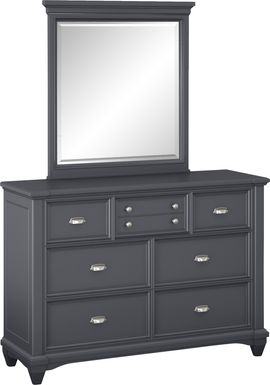 Kids Hilton Head Graphite Dresser & Mirror Set