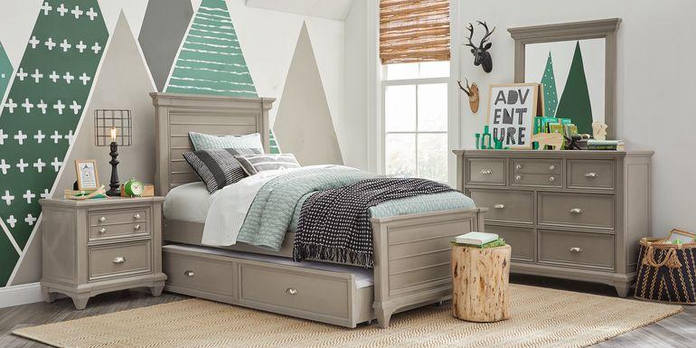 Kids Hilton Head Gray 5 Pc Full Panel Bedroom