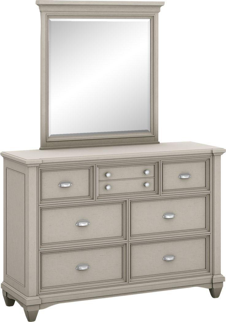 Kids Hilton Head Gray Dresser & Mirror Set