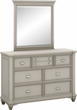 Kids Hilton Head Gray Dresser & Mirror Set