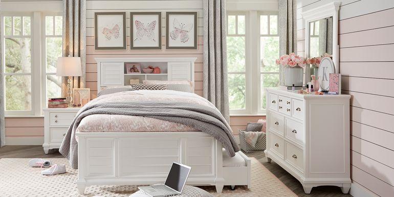 Kids Hilton Head White 5 Pc Full Bookcase Bedroom