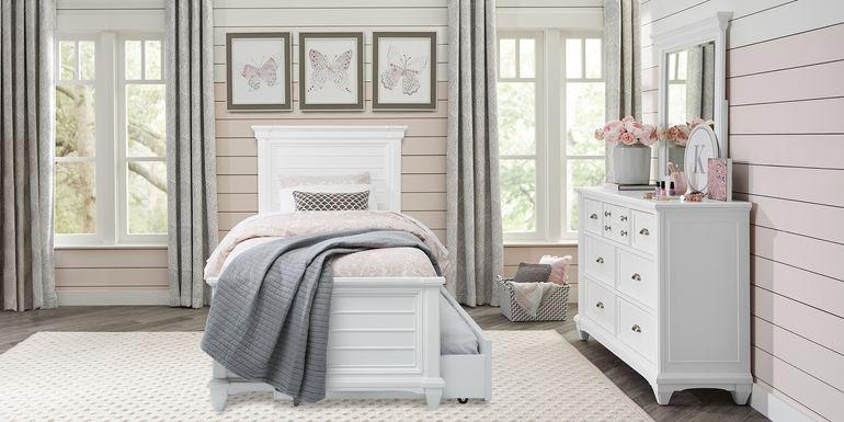 Kids Hilton Head White 5 Pc Twin Panel Bedroom