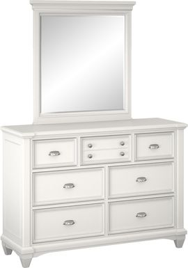 Kids Hilton Head White Dresser & Mirror