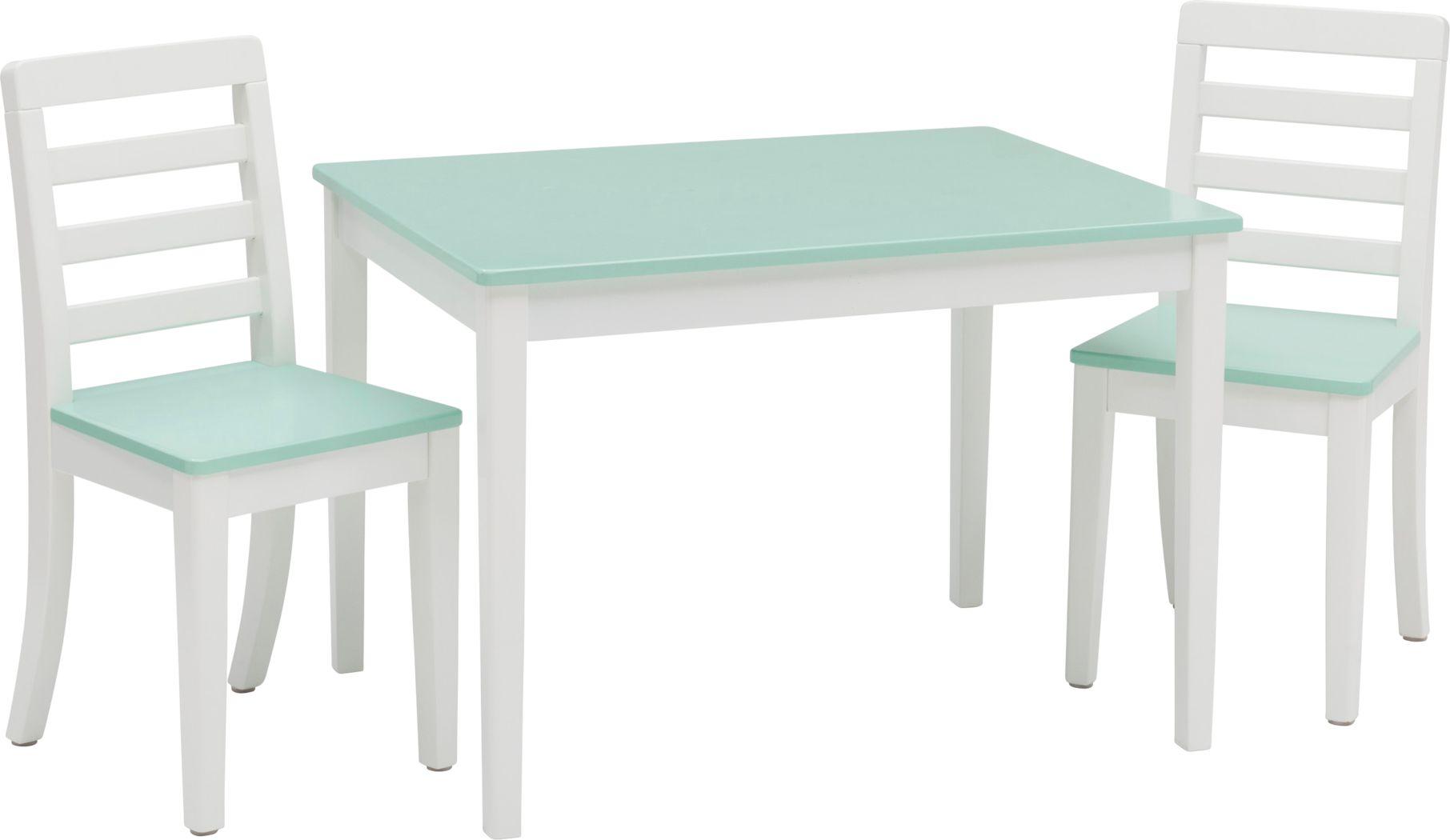 Kids Homeroom Fun Aqua 3 Pc Table Set