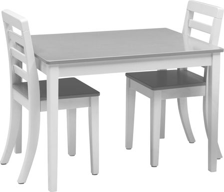 Kids Homeroom Fun Gray 3 Pc Table Set