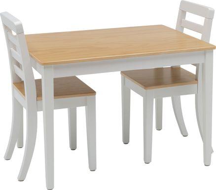 Kids Homeroom Fun Natural 3 Pc Table Set