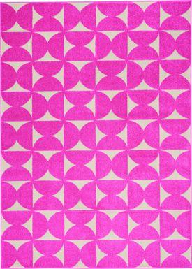 Kids Hourglass Stories Pink 5'3 x 7'3 Rug