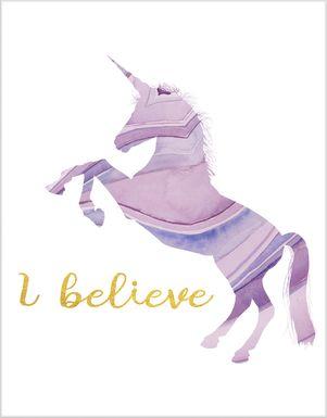 Kids I Believe In Unicorns Artwork