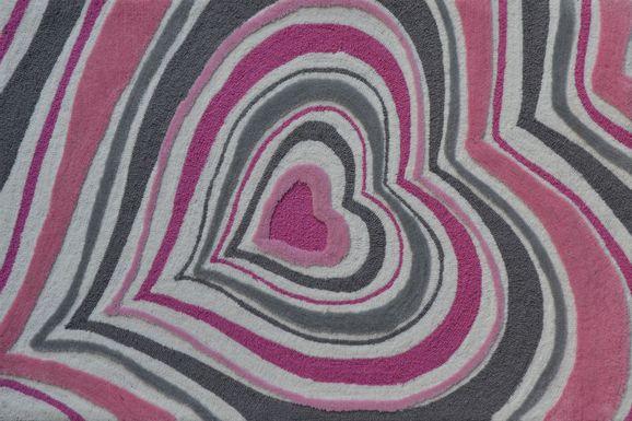 Kids Infinity Heart Pink 2'8 x 4'8 Rug