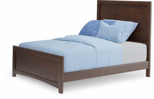 Kids Ivy League 2.0 Walnut 3 Pc Full Panel Bed