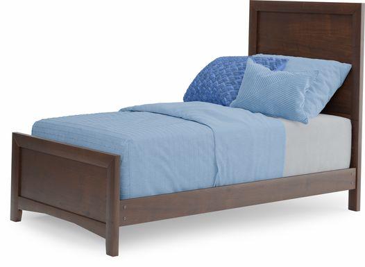 Kids Ivy League 2.0 Walnut 3 Pc Twin Panel Bed
