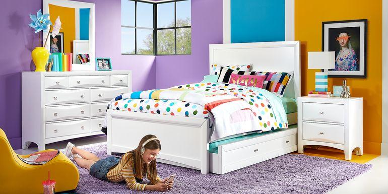 Kids Ivy League 2.0 White 5 Pc Full Panel Bedroom