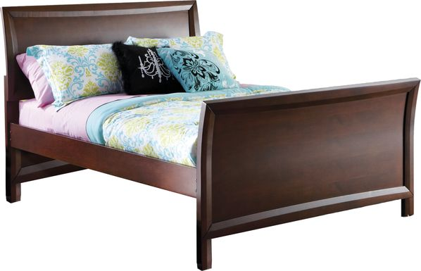 Kids Ivy League Cherry 3 Pc Full Sleigh Bed