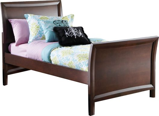 Kids Ivy League Cherry 3 Pc Twin Sleigh Bed