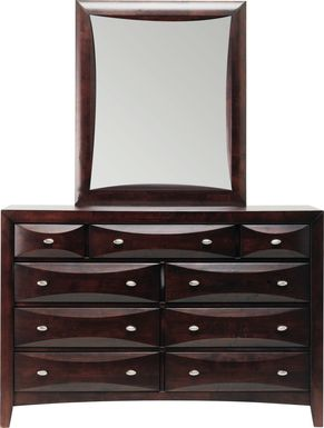 Kids Ivy League Cherry Dresser Mirror Set