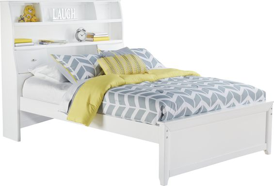 Kids Ivy League White 3 Pc Full Bookcase Bed