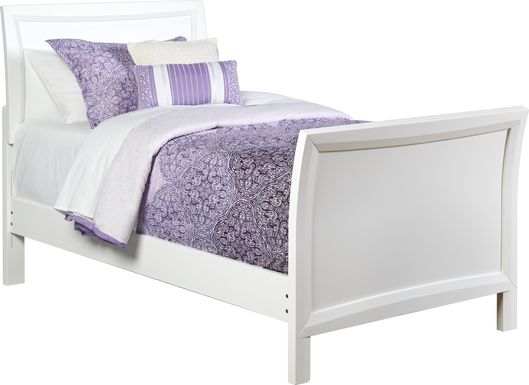 Kids Ivy League White 3 Pc Twin Sleigh Bed