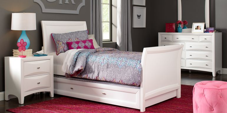 Kids Ivy League White 5 Pc Twin Sleigh Bedroom