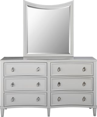 Kids Jaclyn Place Gray Dresser Mirror Set