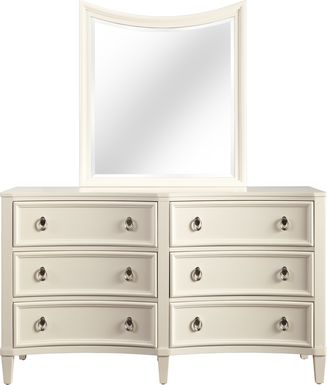 Kids Jaclyn Place Ivory Dresser Mirror Set